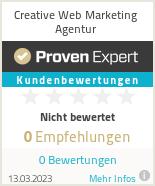 Erfahrungen & Bewertungen zu Creative Web Marketing Agentur