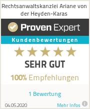 Erfahrungen & Bewertungen zu Rechtsanwaltskanzlei Ariane von der Heyden-Karas