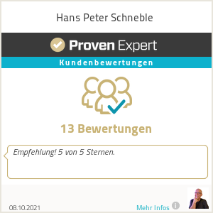 Erfahrungen & Bewertungen zu Hans Peter Schneble