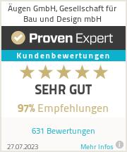 Erfahrungen & Bewertungen zu Äugen GmbH, Gesellschaft für Bau und Design mbH