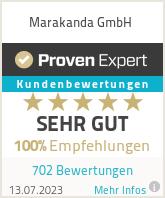 Erfahrungen & Bewertungen zu Marakanda GmbH
