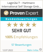Erfahrungen & Bewertungen zu Lager24/7 - Hartmann International Self Storage GmbH & Co. KG