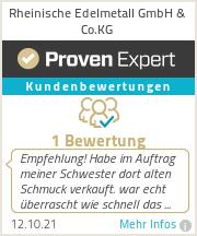 Erfahrungen & Bewertungen zu Rheinische Edelmetall GmbH & Co.KG