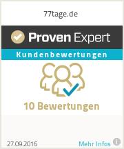 Erfahrungen & Bewertungen zu 77tage.de