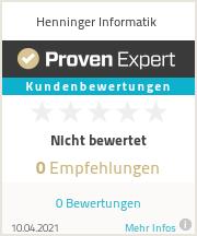 Erfahrungen & Bewertungen zu Henninger Informatik