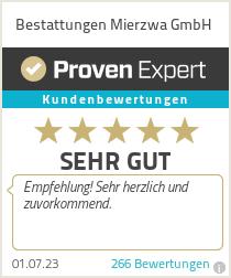 Erfahrungen & Bewertungen zu Bestattungen Mierzwa GmbH