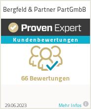 Erfahrungen & Bewertungen zu Bergfeld & Partner PartGmbB