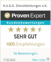 Erfahrungen & Bewertungen zu H.U.G.O. Dienstleistungen e.K.
