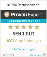 Erfahrungen & Bewertungen zu BERND Rechtsanwälte
