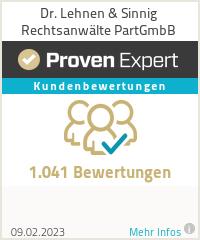 Erfahrungen & Bewertungen zu Dr. Lehnen & Sinnig Rechtsanwälte PartGmbB