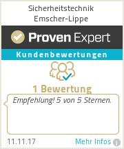Erfahrungen & Bewertungen zu Sicherheitstechnik Emscher-Lippe