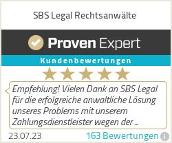 Erfahrungen & Bewertungen zu SBS Legal Rechtsanwälte