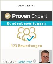 Erfahrungen & Bewertungen zu Ralf Dahler