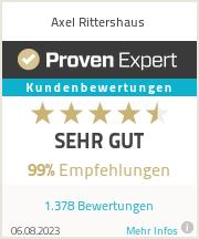Erfahrungen & Bewertungen zu Axel Rittershaus