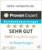 Erfahrungen & Bewertungen zu delta-networks.de