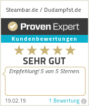Erfahrungen & Bewertungen zu Steambar.de / Dudampfst.de
