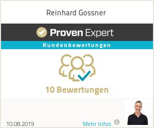 Erfahrungen & Bewertungen zu Reinhard Gossner