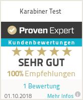 Erfahrungen & Bewertungen zu Karabiner Test