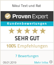 Erfahrungen & Bewertungen zu Nikui Text und Rat
