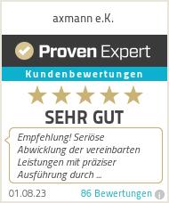 Erfahrungen & Bewertungen zu axmann e.K.