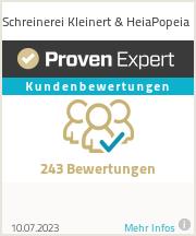 Erfahrungen & Bewertungen zu Schreinerei Kleinert & HeiaPopeia