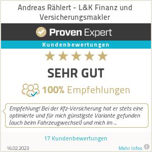 Erfahrungen & Bewertungen zu Andreas Rählert - L&K Finanz und Versicherungsmakler