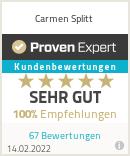 Erfahrungen & Bewertungen zu Carmen Splitt
