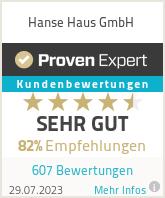 Erfahrungen & Bewertungen zu Hanse Haus GmbH & Co. KG