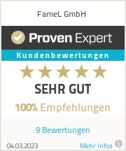 Erfahrungen & Bewertungen zu FameL GmbH