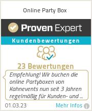 Erfahrungen & Bewertungen zu Online Party Box