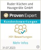 Erfahrungen & Bewertungen zu Ruder Küchen und Hausgeräte GmbH