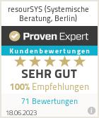 Erfahrungen & Bewertungen zu resourSYS (Systemische Beratung, Berlin)