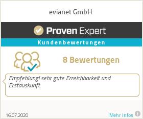 Erfahrungen & Bewertungen zu evianet GmbH