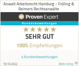 Erfahrungen & Bewertungen zu Anwalt Arbeitsrecht Hamburg - Fröling & Reimers Rechtsanwälte