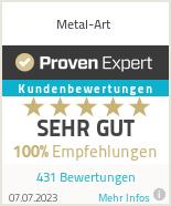 Erfahrungen & Bewertungen zu Metal-Art
