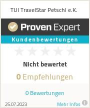 Erfahrungen & Bewertungen zu TUI TravelStar Petschl e.K.