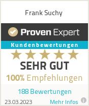 Erfahrungen & Bewertungen zu Frank Suchy