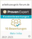 Erfahrungen & Bewertungen zu arbeitszeugnis-forum.de