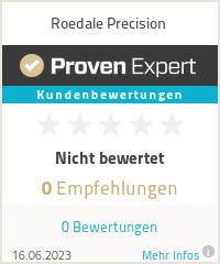 Erfahrungen & Bewertungen zu Roedale Precision