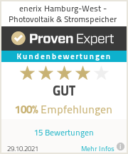 Erfahrungen & Bewertungen zu enerix Hamburg-West - Photovoltaik & Stromspeicher