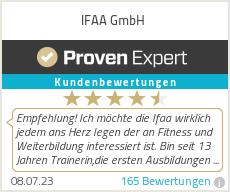 Erfahrungen & Bewertungen zu IFAA GmbH