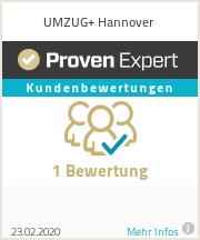 Erfahrungen & Bewertungen zu UMZUG+ Hannover