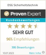 Erfahrungen & Bewertungen zu DSG Sicherheitstechnik