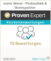 Erfahrungen & Bewertungen zu enerix Wesel - Photovoltaik & Stromspeicher