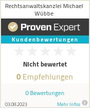 Erfahrungen & Bewertungen zu Rechtsanwaltskanzlei Michael Wübbe