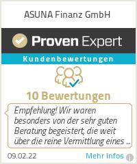 Erfahrungen & Bewertungen zu ASUNA Finanz GmbH