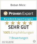 Erfahrungen & Bewertungen zu Boban Micic