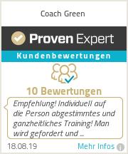 Erfahrungen & Bewertungen zu Coach Green