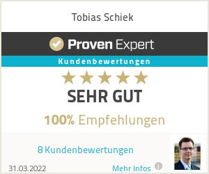 Erfahrungen & Bewertungen zu Tobias Schiek