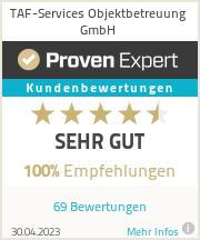 Erfahrungen & Bewertungen zu TAF-Services Objektbetreuung GmbH